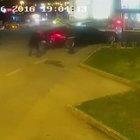 Ataşehir'de kaçırılmak işadamının vurulma anı kamerada