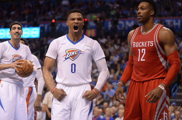Oklahoma City Thunder Houston Rockets'ı devirdi