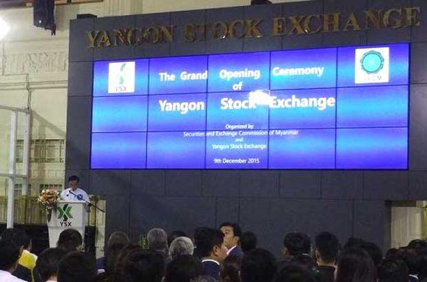 Myanmar'da ilk borsa açıldı