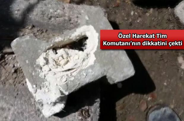 Şırnak'ta teröristler kaldırım taşına bomba döşemiş