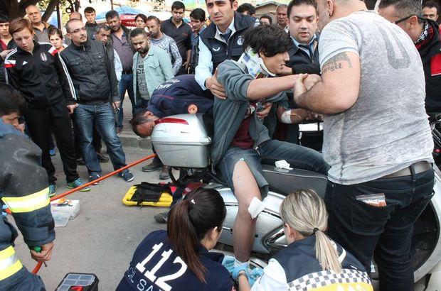 Antalya'da elektrikli bisikletle kaza yapan çocuğun ayağına demir saplandı