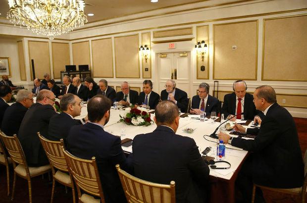 Cumhurbaşkanı Erdoğan, Musevi kuruluşları temsilcileriyle görüştü