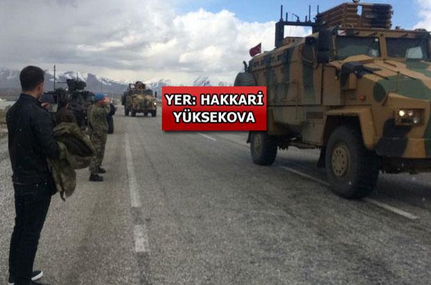 Askeri konvoy 'Ölürüm Türkiyem' türküsüyle Yüksekova'ya uğurlandı