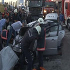 Ataşehir'de feci kaza: 2 ölü, 5 yaralı