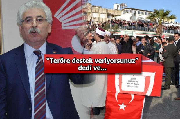 CHP'li vekile şehit cenazesinde yumruklu saldırı!
