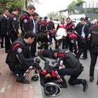 Şişli'de Yunus ekibi kaza yaptı: 2 polis yaralı