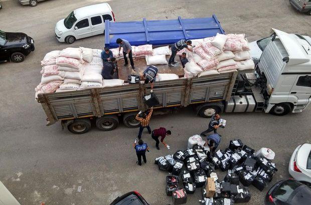 Mardin'de 799 bin paket kaçak sigara ele geçirildi