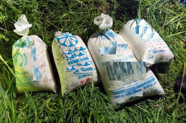 Siirt'te mezarlıkta patlayıcı yapımında kullanılan malzemeler bulundu