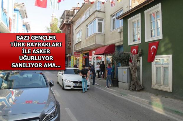 Bursa Mudanya'da asker uğurlama bahanesiyle para topluyorlar