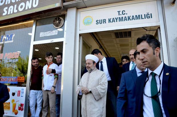 Diyanet İşleri Başkanı Mehmet Görmez, Sur'u ziyaret etti