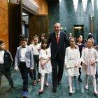 Cumhurbaşkanı Erdoğan çocukları misafir etti