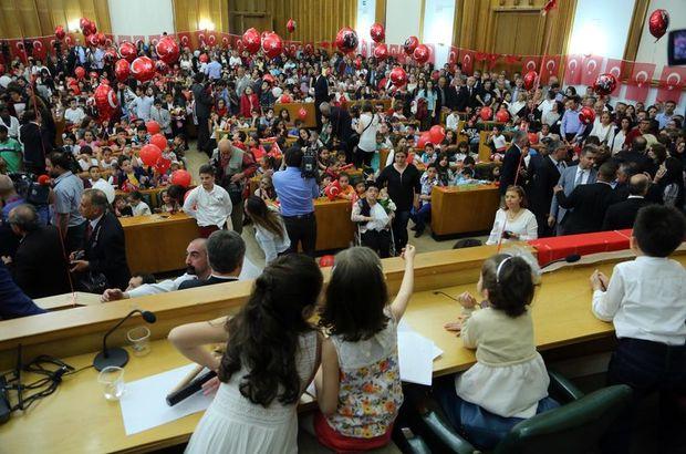 CHP grubu çocuklar için toplandı