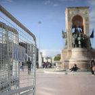 1 Mayıs nedeniyle bariyerler Taksim'de