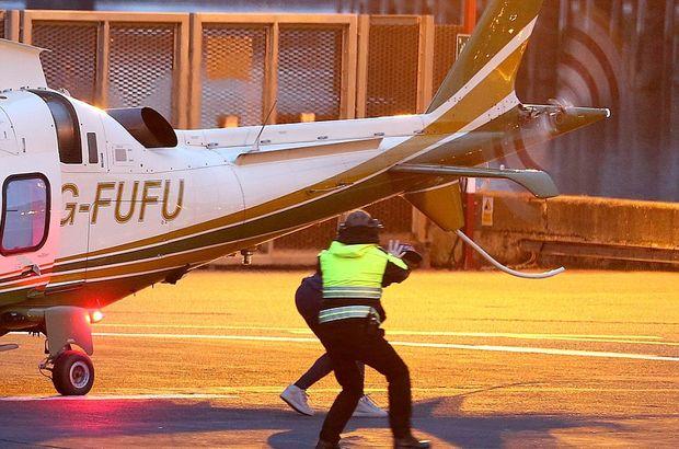 Leicester City'li Demarai Gray, helikopter pervanesinden kurtuldu
