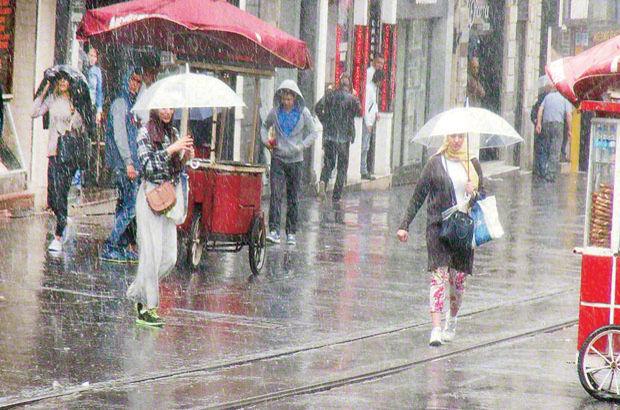 İstanbul'da yağmur ve fırtına