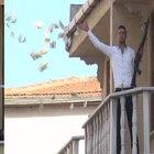 Kumkapı'da soyguncu çatıdan paraları saçtı