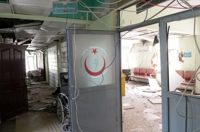 Teröristler hastane, kamu binaları ve evleri yakıyor