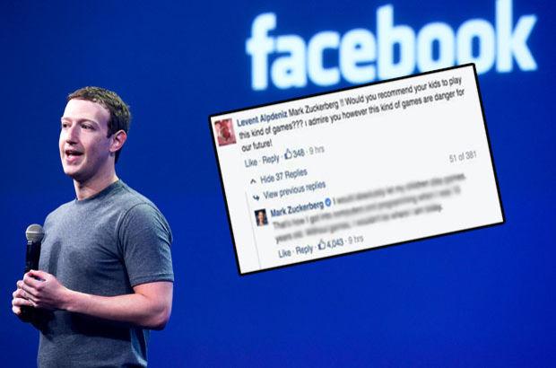 Mark Zuckerberg'ten Levent Alpdeniz'e yanıt