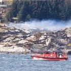 Norveç'te içinde 13 kişi bulunan helikopter düştü