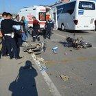 Manisa'da 2 motosiklet kaza yaptı: 2 yaralı