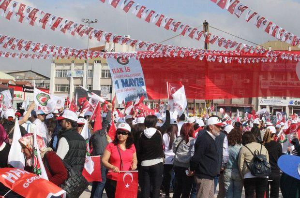 Sakarya'da 32 ilden gelen işçilerle 1 Mayıs kutlamaları başladı