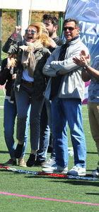Cem-Ümit Boyner çifti kızları Elif Boyner'in maçını izledi