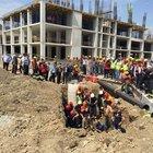 Manisa'da hastane inşaatında göçük