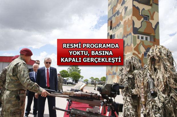 Erdoğan'dan Özel Kuvvetler'e ziyaret