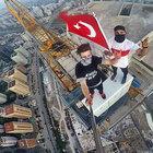YER: İSTANBUL! 315 METREYE TIRMANDILAR