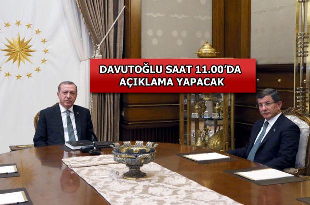 Erdoğan-Davutoğlu görüşmesinde son dakika gelişmesi