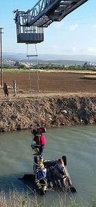 Mersin'de kanala düşen kadın yaralandı