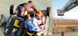 Mersin'de otomobili ile su kanalına uçtu