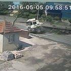 Zonguldak'taki tır kazası kamerada