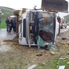 Erzurum'da yolcu otobüsü devrildi: 27 yaralı