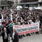 Atina'da 15 bin kişi eylem yaptı