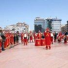 Taksim'de mehteran şovu