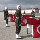 Çukurca'da şehit olan üç asker için tören düzenlendi