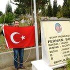 Şehidin mezarındaki bayrağın ikinci kez çalındığı iddiası