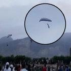 Hatay'da iniş yapmak isteyen paraşütçü yere çakıldı!