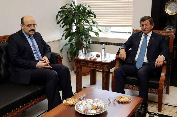 Başbakan Davutoğlu'ndan YÖK Başkanı Saraç'a ziyaret