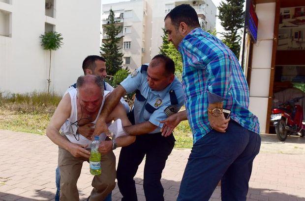 Antalya'da bir kişi kendini yakmaya kalkıştı