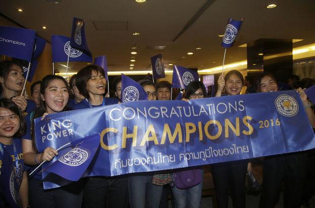 Leicester'ın kutlamaları Tayland'a taştı