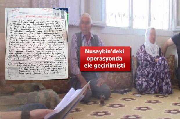 PKK'lı kadın teröristin not defterini ailesine teslim etti