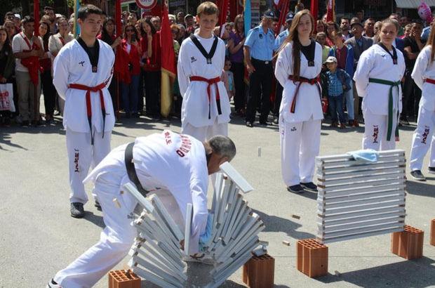 Edirne'de 11 saniyede 600 mermer kırdı