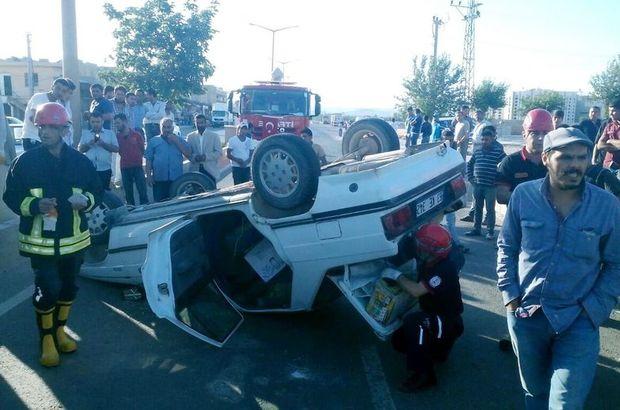 Yola aniden çıkan çocuğa çarpmamak için kaza yaptı