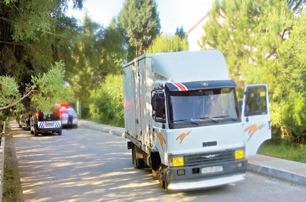 Kartal'da kamyon kovalamacası