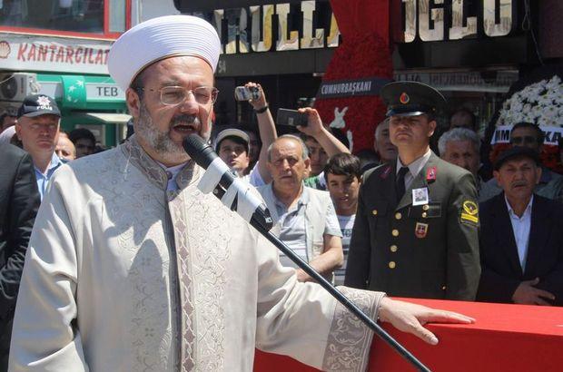 Diyanet Başkanı Mehmet Görmez, şehit Tek'in cenaze törenine katıldı