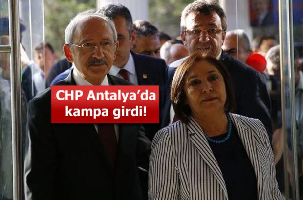 CHP, Antalya'da kampa girdi