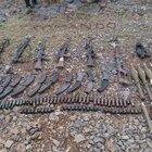 Dağlıca Gevanakurki Tepe bölgesinde PKK'ya ait silah ve mühimmat ele geçirildi