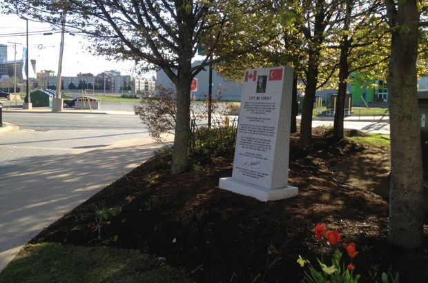 Kanada'ya Çanakkale Anıtı dikildi